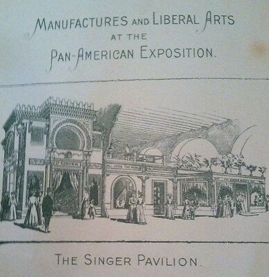 Singer Sewing Advertising PAN AM EXPO Booklet 1899 Three JL Ridgway Birds RARE