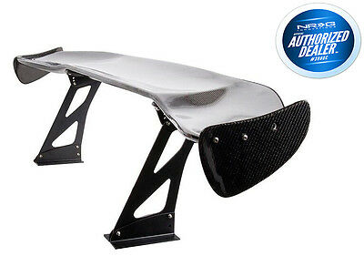 "Nrg Carbon Fiber Gt Style 69"" Jdm Racing Rear Trunk Spoiler / Wing"