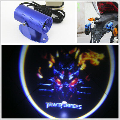 Transformers Logo Motorcycle LED Laser Light Ghost Shadow Projector For Kawasaki