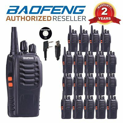 20PCS Baofeng BF-888S UHF 400-470Mhz Two Way Radio + Charger + 1 x USB Cable UK