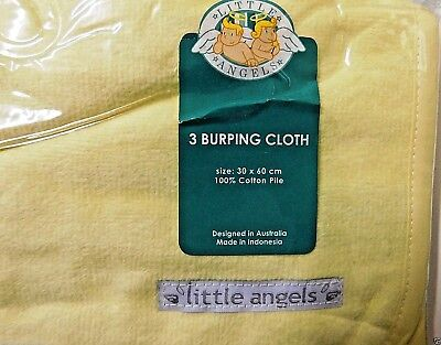 Baby Burping Cloth - 3 PCS SET - 100% Cotton 30 X 60 CM - Washable - New in Pack