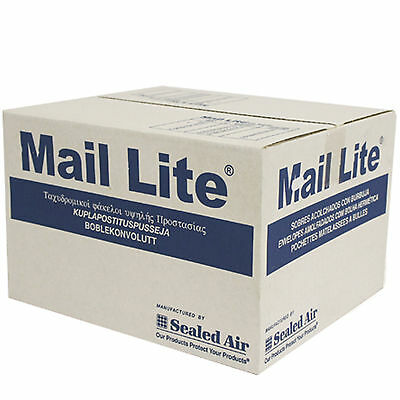 100 x D/1 MAIL LITE WHITE Padded Mail Envelopes Sealed Air Bag Mail Lite UK