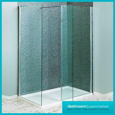 Walk In Shower Enclosure Wet Room Shower Tray Cubicle 8mm Glass Screen Panel