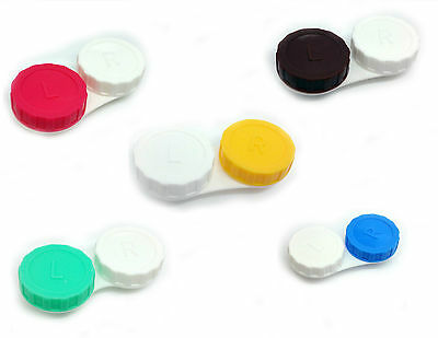 Plastic Travel Care Contact Lens Holder Storage Soaking Box Cases Set L&R Marked