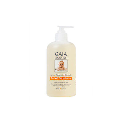 NEW Gaia Natural Baby Body Wash Bath And 500mL Bath Body Washes Toiletries