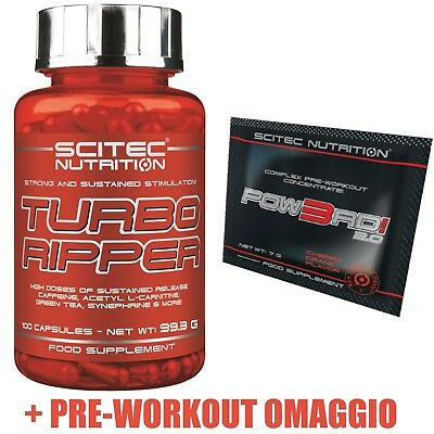 Scitec nutrition Turbo ripper 100caps - Bruciagrassi Dimagrante Carnitina -