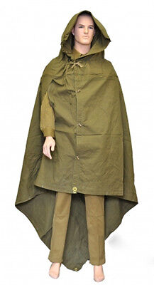 Military Russian Army Soviet soldiers Cloak tent Poncho Hooded Rain Coat
