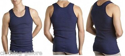 3 Pack Bonds Navy Blue Chesty Cotton Singlets Underwear Men's Mens Singlet Size