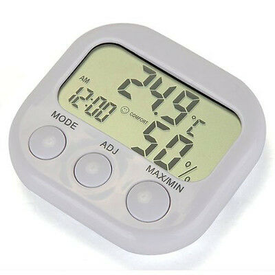 Humidity Meter Lcd Digital Indoor Thermometer Hygrometer Gauge Clock
