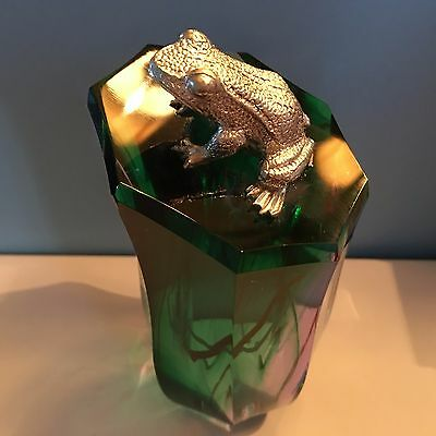 Caithness Pondering Silver Frog Paperweight Colin Terris with Box 40% Off