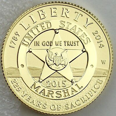 2015-W $5 U.S. Marshals Service 225th Anniversary Gold Proof with Mint Box & COA
