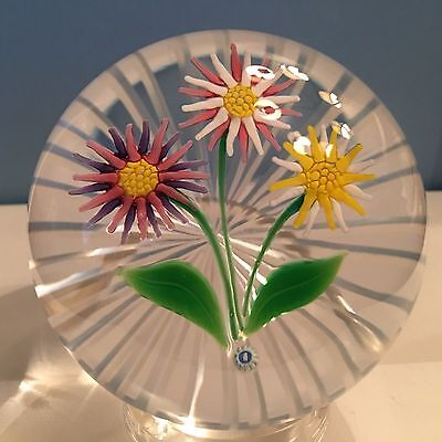 Whitefriars Daisy Bouquet Limited Edition Paperweight New in Box with COA