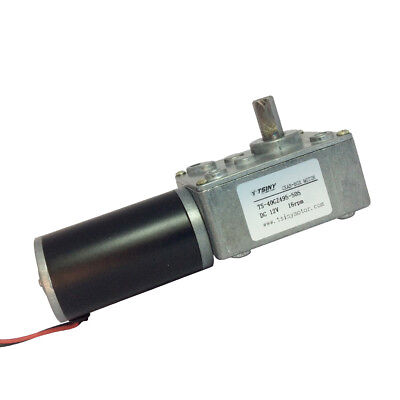 12 Volt 16 RPM Turbo Small Gear Motor DC Geared Driver Right Angle Gear Motor
