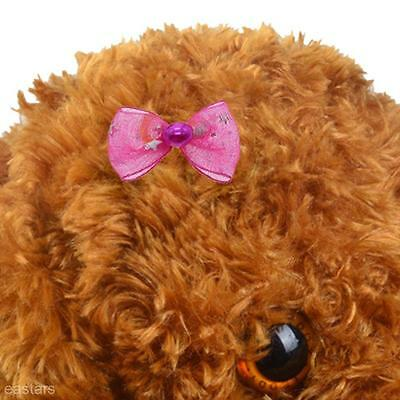 Nylon Canvas Pet Bow Tie Dog Cat  Accessory Grooming Hair Clip Hairpin Hairband
