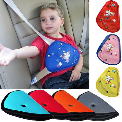 Children Baby Kids Car Safety Cover Strap Adjuster Pad Harness Seat Belt Clip