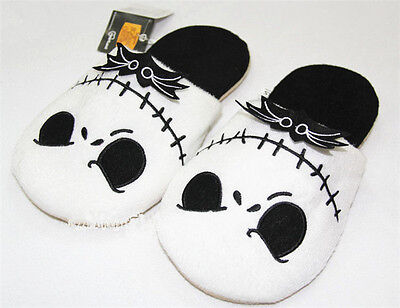 New The Nightmare Before Christmas Jack Skellington Soft Plush Warm Slippers AAA