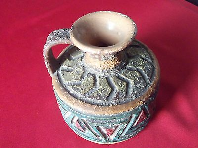 vintage rare italian terracotta clay wine / water jug