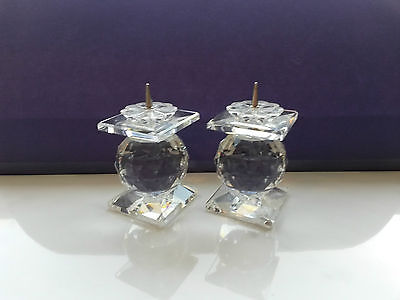 SWAROVSKI SILVER CRYSTAL CANDLE HOLDER - Art. 7600 NR 102 - COLLECTIBLE - LOVELY