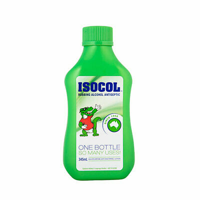 NEW Isocol Antiseptic Rubbing Alcohol 345mL First Aid Cleaning Concentrate