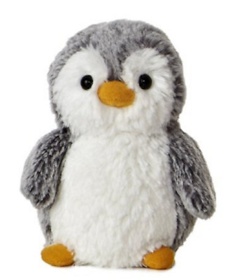 6 Inch Gray PomPom Penguin Plush Stuffed Animal by Aurora