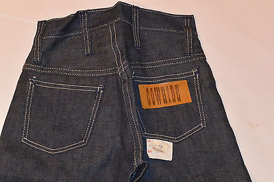 UNUSED BOY'S 1960s SANFORIZED DENIM BLUE JEANS! 'COWHIDE' BRAND! WITH TAG! SZ 4