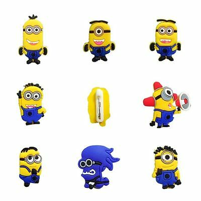 PVC Rubber Cartoon Badges with Classical Minions Charms Pin Button Kids Gifts