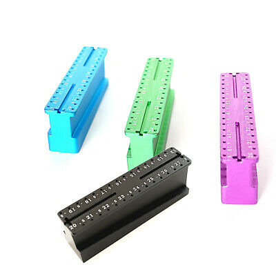 3x Packs Aluminum Metal Endo Endodontic File Holder and Measuring Block