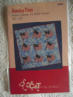 dancing flags patriotic flag 70 x 70 quilt pattern 11 95
