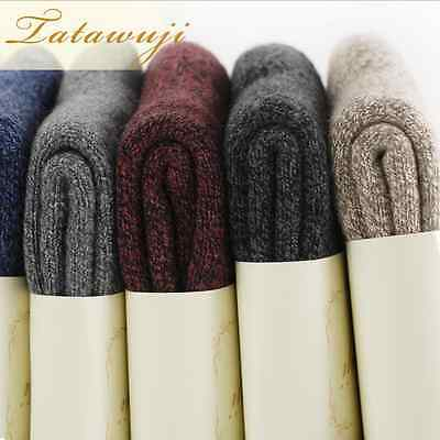 5 Pairs Wool Cashmere Men Women Luxury Thick Warm Dress Casual Soft Solid Socks