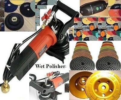 Wet Concrete Stone Polisher Best Quality Polishing 16 Pad Grinding Cup Granite