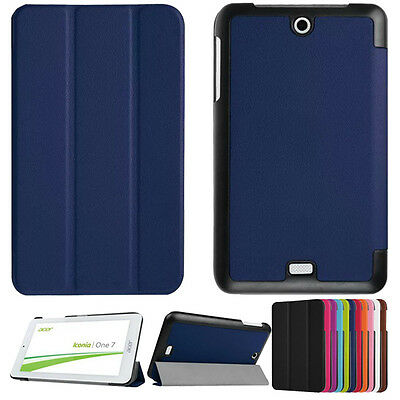 """Ultra Slim Leather Case Stand Cover for 7"""" Acer Iconia One 7 B1-770 Tablet PC"""