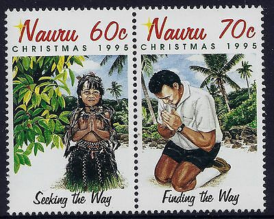 1995 Nauru Christmas Set Of 2 Fine Mint Mnh/muh