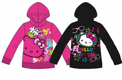 Hello Kitty Hoodie Sweater Jumper Top Bnwt Age 2-8Y Girls Sanrio Free P&p