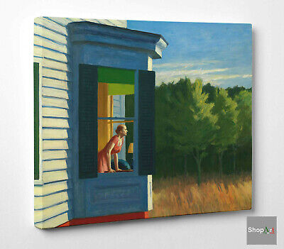 Edward Hopper Quadro Cape Code Morning Stampa su Tela Canvas effetto Dipinto