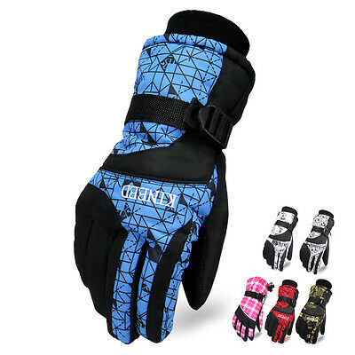 Deluxe Womens Mens -30℃ Waterproof Ski Gloves Winter Windproof Warm Motorcycle