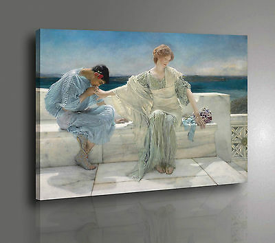 Alma Tadema Ask me no more Stampa su Tela Canvas Vernice effetto Quadro
