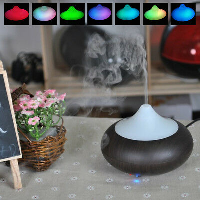 LED Ultrasonic Essential Oil Air Humidifier Aroma Therapy Diffuser Purifier UK