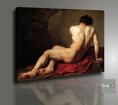 Quadro Jacques Louis David Patrocle Stampa su tela Canvas Vernice Pennellate