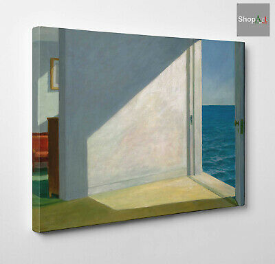 🏠 Quadro Edward Hopper Rooms by the Sea Stampa su Tela Canvas effetto Dipinto