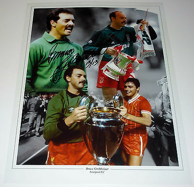 Bruce Grobbelaar Liverpool Personally Hand Signed 16X12 Photo