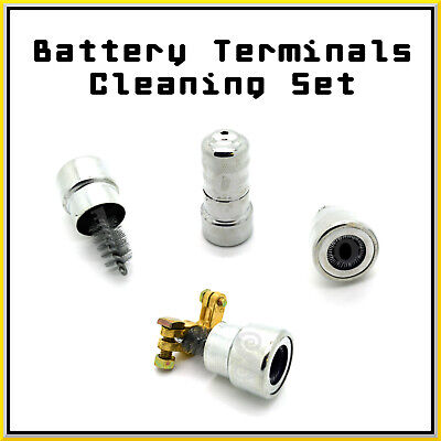 2pcs Heavy Duty Car Battery Terminal Cleaning Set Stainless Steel Wire Brush Pro