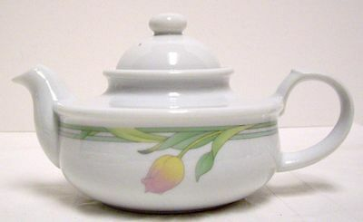 Toscany Collection Individual Tea Pot Teapot With Lid Tulip Pattern 2 Cup Japan