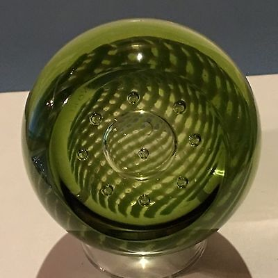 "Caithness Green ""Corona"" Faceted Paperweight New In Box"