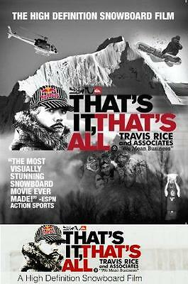 THAT'S IT, THAT'S ALL - Travis Rice - SKI / SNOW DVD