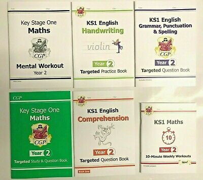 KS1 Gold Stars Educational Home Learning Pack of 9 Workbooks Ages 6-7 Year 2 New