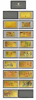 Italy Album Set 24Kt Gold Limited Edition Coloured  Polymer Bank Note Set