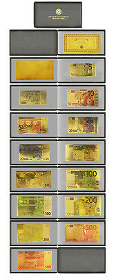 Euro Album Note Set 24Kt Gold Limited Edition Coloured  Polymer Bank Note Set