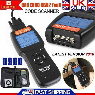 D900 Universal OBD2 EOBD CAN Car Fault Code Reader Diagnostic Scanner Tool UK