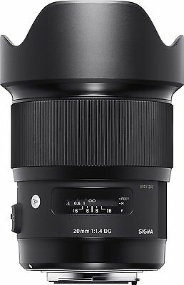 Sigma 20mm F1.4 DG HSM Lens for Canon