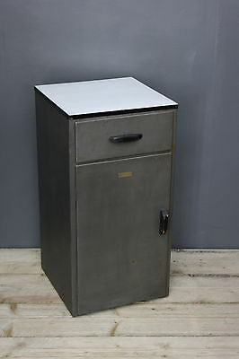 Vintage Industrial Stripped Metal Cabinet Enamel Top
